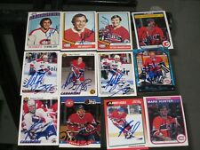 LOT OF 41 DIFFERENT AUTOGRAPHED MONTREAL CANADIENS CARDS-NO DOUBLES-DECEASED