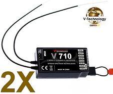 2X Empfänger neue Version 7 Kanäle + PPM für DSMX & DSM2 Spektrum Storm G152 m2