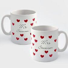 Conjunto personalizado del Sr. & sra. Tazas-boda o aniversario de regalos de San Valentín
