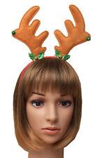 Natale Corna Da Renna con campanelle & Agrifoglio Deeley Cerchietto con molle