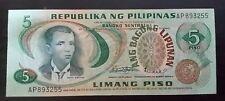 5 Pesos Banknote Philippines Andres Bonifacio Serial#AP893255