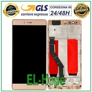 DISPLAY LCD TOUCH SCREEN + FRAME HUAWEI P9 PLUS VIE-L09 SCHERMO VETRO ORO GOLD