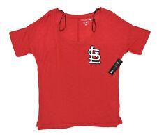New Era Women's Size Small T Shirt St. Louis Cardinals 5th & Ocean Genuine Scoop