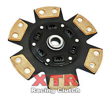 XTR STAGE 3 SPRUNG 6PUCK CERAMIC CLUTCH DISC PLATE for 88-89 HONDA PRELUDE 2.0L