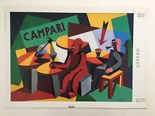 DEPERO ,CAMPARI ADVERTISEMENT 1926, MEGA RARE  AUTHENTIC EXHIBITION  PRINT 1988