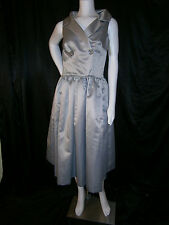 FANCY NY VTG INSPIRED COCKTAIL SILVER TEA LENGTH 10 ANNA MOM WEDDING DRESS $2200