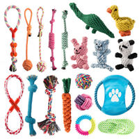 5/10x PET chien jouets Toys corde dur forte mâcher noeud noué chiot sain dents