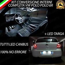 KIT FULL LED INTERNI VOLKSWAGEN POLO 6R CONVERSIONE COMPLETA + LUCI A TARGA LED