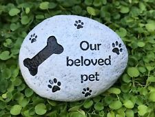 Miniature FAIRY GARDEN Accessories ~ Our Beloved PET Memorial DOG Stone Sign