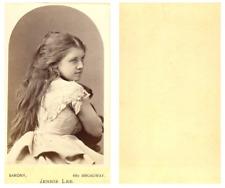 Sarony, New York, Jennie Lee, actrice CDV vintage albumen carte de visite.Mary