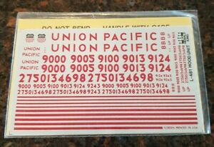 Herald King HO Decals UP UNION PACIFIC L-481 Hood Unit Decals Sealed