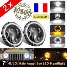 "2x 7"" 45W H4 H13 LED Phare Feux Avant Lampe KIT DRL HI-Lo pour Jeep Wrangler JK"