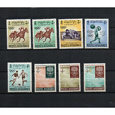 AFGHANISTAN stamps 1962 Asian Games Jakarta Horse Racing Football Malaria Fight