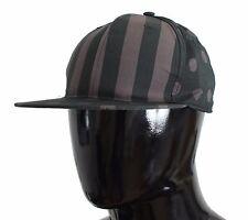 NWT $260 DOLCE & GABBANA Green Gray Polka Dot Cotton Cap Hat Mens Strap 59 / L