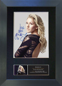 ELLIE GOULDING No2 Mounted Signed Photo Reproduction Autograph Print A4 436