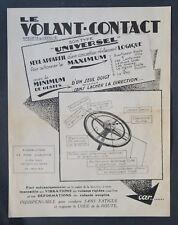 Ancienne publicité Volant Contact automobile voiture NEUILLY-SUR-SEINE