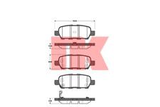 Bremsbelagsatz Scheibenbremse - NK 222257