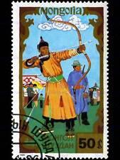 La mongolie vintage cachet affranchissement archery photo art imprimé poster photo BMP1697B