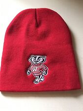 Wisconsin Badgers, Red  Embroidered Beanie Style Hat