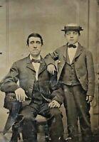 "ORIGINAL - MAN WITH BOY - (FULL PLATE TINTYPE)  L 7"" x W 6"""