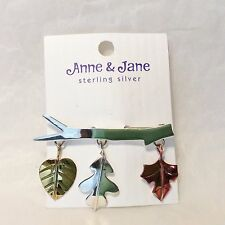 Anne & Jane Harvey Branch with Three Leaves Pin
