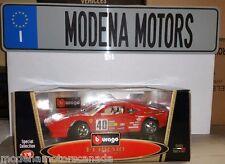 FERRARI 288 GTO RALLY RACECAR #40 RED 1:18 by BURAGO RARE OLD MODEL NEW IN BOX
