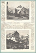 Camsdorf-Jena. Hochwasserverheerungen. Original Holzstich erschienen 1890