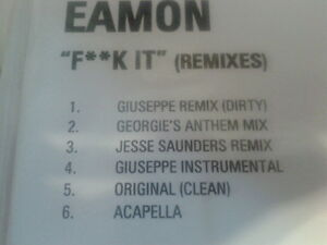 Eamon - F**k It (Remixes) Promo cdr 2003 MINT rare versions clean & dirty