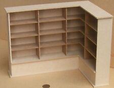 1:12 Flat Pack MDF Wooden Right Hand Corner Shelf Unit Dolls House Miniature