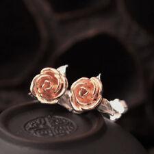 Ohrstecker Rose echt Sterling Silber 925 rosegold gelbgold  Damen Ohrringe