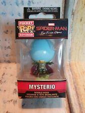 MINI Figura Marvel Portachiavi Funko Spiderman MYSTERIO tasca portachiavi in vinile Pop