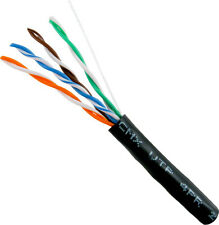 Cat5E 350 Mhz UV Outdoor CMX 1000FT Bulk Ethernet Cable BLACK FREE SHIPPNIG