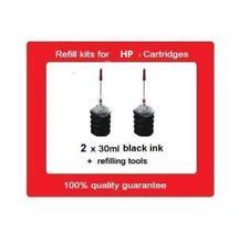 2 x Refill Kits for HP63XL & HP63 black ink Cartridges for HP Envy 4523, OJ4650