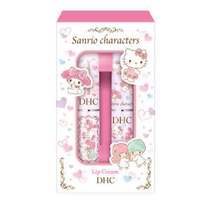 [DHC x SANRIO] HELLO KITTY and LITTLE TWIN STAR Moisturizing Lip Cream Balm SET