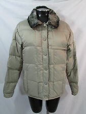 Burton Snowboard Jacket Womens M Tan Puffer Jacket Down Jacket Winter Jacket