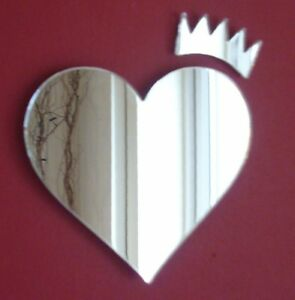 Hearts & Crown Acrylic Mirror (Several Sizes Available)