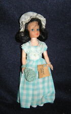 """Vintage Colonial Doll Fashioned In Williamsburg Hard Plastic 7.5"""" Jointed neck"""