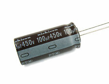 1pc  Nichicon PT 100uF 450v 105c Radial Electrolytic Capacitor  18mm x 40mm