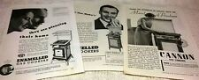 MAIN & CANNON GAS COOKERS - THREE Original 1930s ADVERTISEMENTS. Free Post