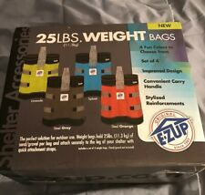 E-Z UP WB3SGBK4 Weight Bag (Set of 4), 25 lb, Steel Gray with Black Accents