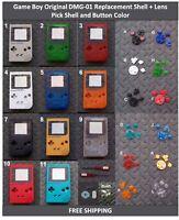 Nintendo Game Boy Original DMG-01 Replacement Shell+Lens- Pick Shell/ButtonColor