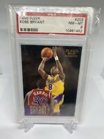 KOBE BRYANT 1996 Fleer #203 Lakers Rookie Card Graded PSA 8 MINT