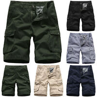 Men's Army Cargo Shorts Sports Casual Trousers Pockets Combat Summer Short Pants
