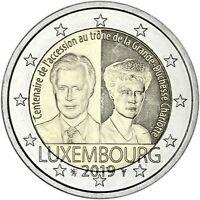 Luxemburg 2 Euro 2019 Großherzogin Charlotte Gedenkmünze bankfrisch