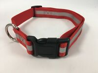 CHARITY LISTING (Type 4) Red High Viz Visability Dog Collar Pet 43-67cm Large