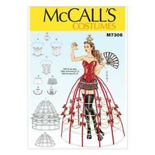 Mccall's Sewing Pattern M7306 Corsets Shorts Collars Hoop Skirts Crown Sz 6-14