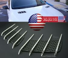 Factory OE Look Hood Engine Vent Grille Grill Louvered Scoop Cover Kit For Chevy