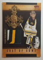 2010-11 Crown Royale Coat of Arms Purple Materials Patch Tuukka Rask 20/25