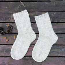 Russian Men's Wool Socks Hand Knitted  Handmade  #24
