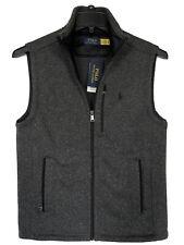 Polo Ralph Lauren Vest Fleece Mockneck Knit Full-Zip Grey Men's Small NWT $148